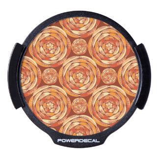 Orange pattern LED window decal