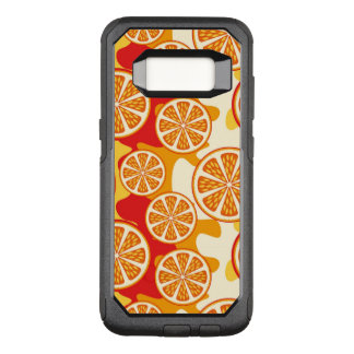 Orange pattern OtterBox commuter samsung galaxy s8 case