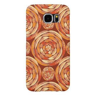 Orange pattern samsung galaxy s6 cases