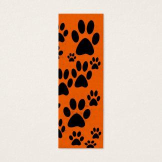 Orange Paws Bookmarks Mini Business Card