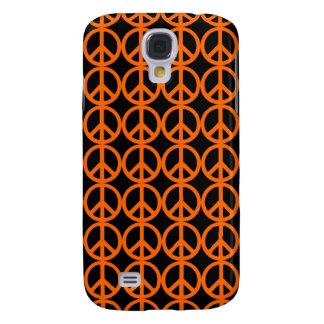 Orange Peace Sign Pattern