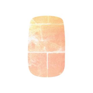 Orange Peach T Wall Pattern Minx Nail Art
