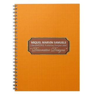 Orange Peel Decorative Nature Modern Notebook