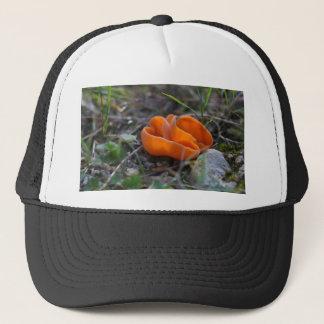 Orange peel fungus, Aleuria aurantia Trucker Hat