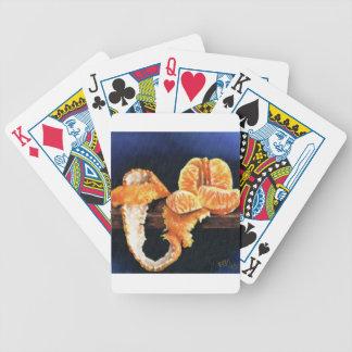 Orange, Peeled Bicycle Playing Cards