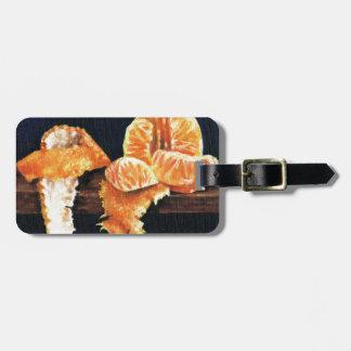 Orange, Peeled Luggage Tag
