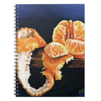 Orange, Peeled Spiral Notebook