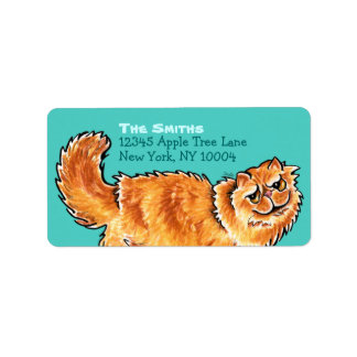 Orange Persian Cat Off-Leash Art™ Back Ride