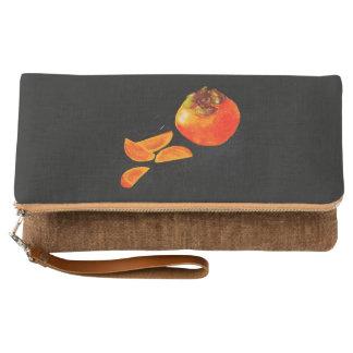 Orange Persimmon Clutch