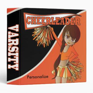 Orange Personalize Diva Cheerleader Binders