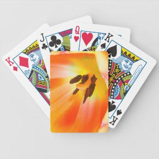 Orange Petals Bicycle Playing Cards