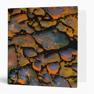Orange Petrified dinosaur bone 3 Ring Binder
