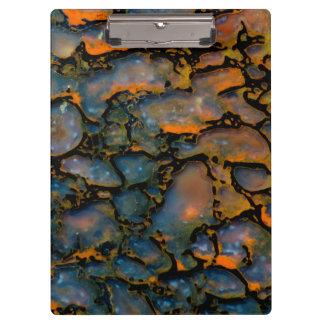 Orange Petrified dinosaur bone Clipboard