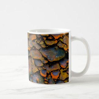 Orange Petrified dinosaur bone Coffee Mug