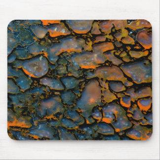 Orange Petrified dinosaur bone Mouse Pad