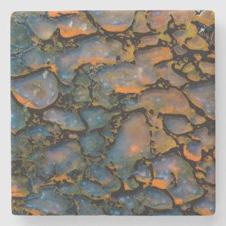 Orange Petrified dinosaur bone Stone Coaster