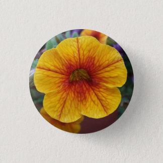 Orange Petunia 1 Inch Round Button