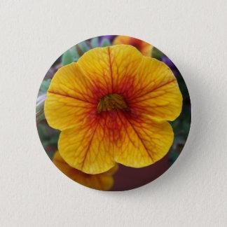 Orange Petunia 2 Inch Round Button