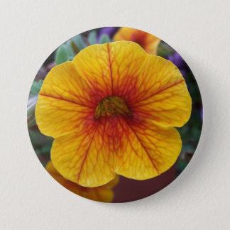 Orange Petunia 3 Inch Round Button