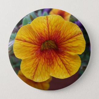 Orange Petunia 4 Inch Round Button