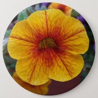 Orange Petunia 6 Inch Round Button