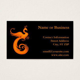 Orange Phoenix Business Card