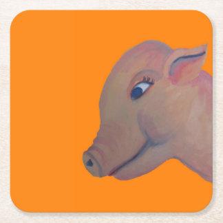 orange pig coaster