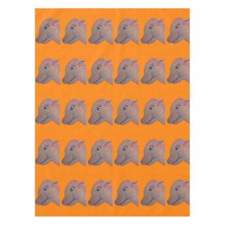 orange pig tablecloth