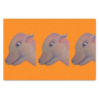 orange pig tissue paper