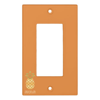 Orange Pineapple Aloha Light Switch Plate Toggle