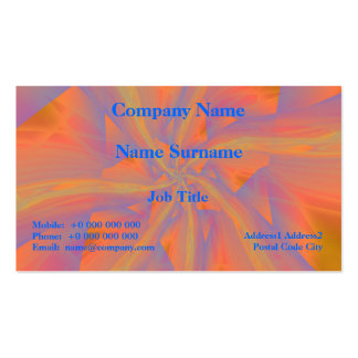 Orange Pink and Violet Spiral Arms Card Business Card Templates