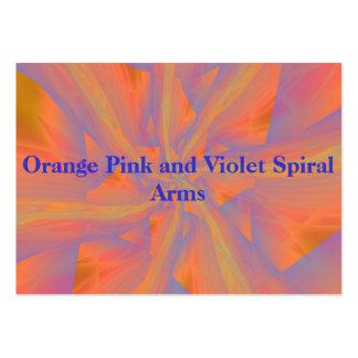 Orange Pink and Violet Spiral Arms Card Business Card
