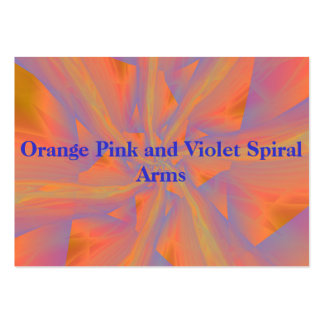 Orange Pink and Violet Spiral Arms Card Large Business Card