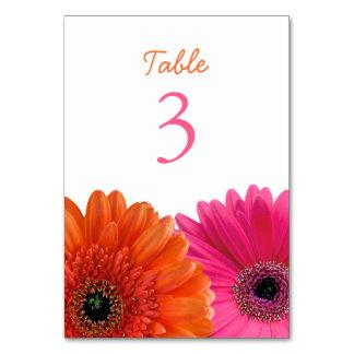 Orange Pink Gerbera Gerber Daisy White Wedding Card