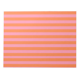 Orange Pink Lines Summer Mood Notepad - 40 pages