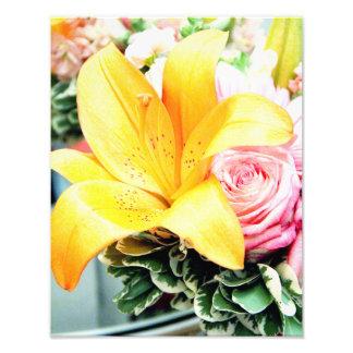 orange pink wedding flowers star lily rose photo art