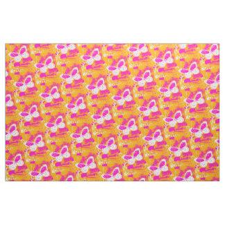 Orange Pink White Butterfly Pattern