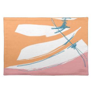 Orange Pink with Turk Placemat
