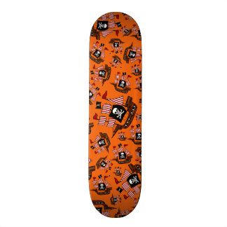 Orange pirate ships skate board decks