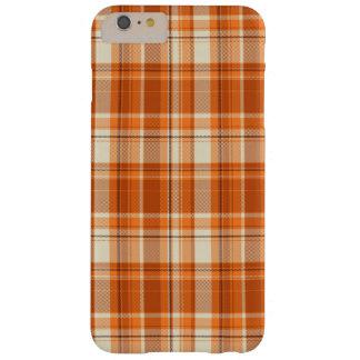 Orange plaid barely there iPhone 6 plus case