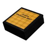 Orange Plaid Gift Storage Box Trinket Boxes