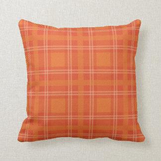 Orange plaid pillow
