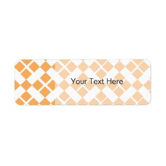 Orange Plaid Return Address Label