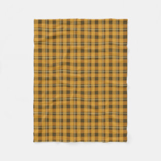 Orange Plaid Small Blanket