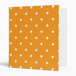 Orange Polka Dot Design 3 Ring Binder