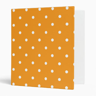 Orange Polka Dot Design Binders