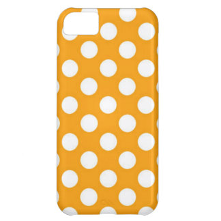 Orange Polka Dot iPhone 5C Cases