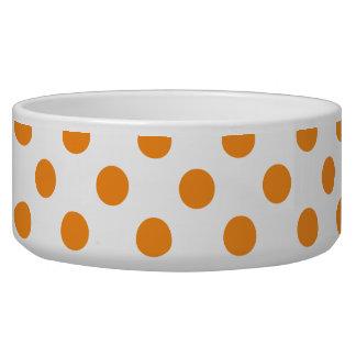 Orange Polka Dot on White Food bowl