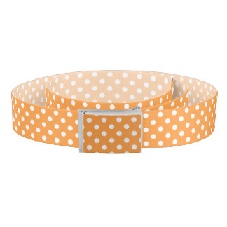 Orange Polka Dot Pattern Belt