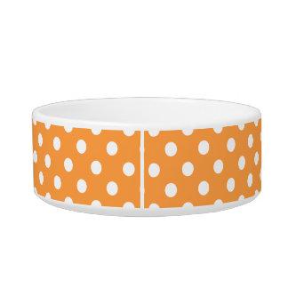 Orange Polka Dot Pattern Bowl
